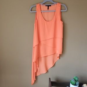 Orange BCBG Maxazria asymmetrical  tank top